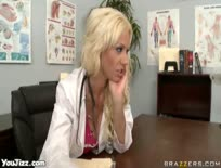 Doctor Tanya Blows a Cock